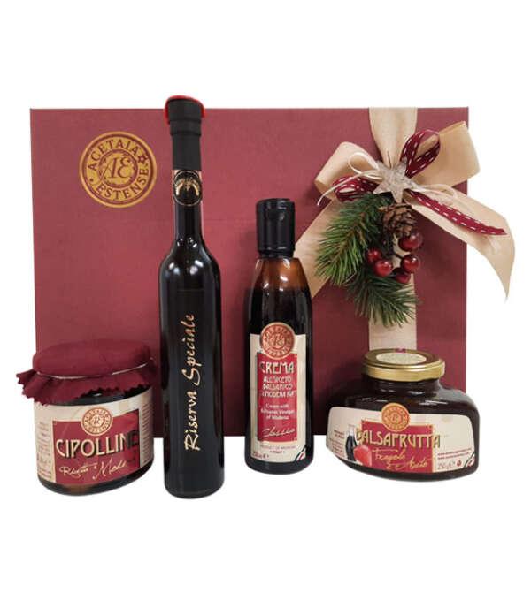 cesta di Natale - auguri al balsamico - Modena Gourmet